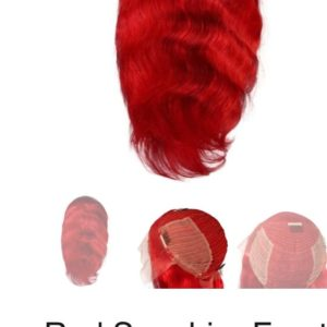 Red Sapphire Front Lace 18″ Wig