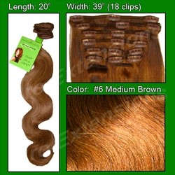 #6 Medium Brown – 20 inch Body Wave