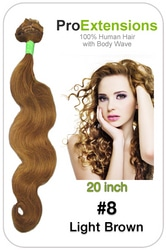 #8 Light Brown – 20 inch Body Wave