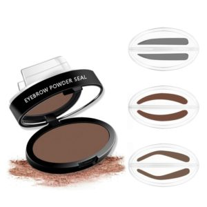 2 Shape Eyebrow stamp Brow Stamps Powder Pallette Delicated Beauty Makeup Tool For Women Girls