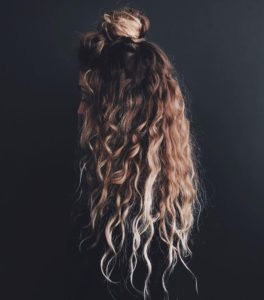 easy hairstyles for long hair: hun bun