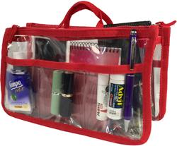Case of [20] Handbag Organizer – Clear/Red