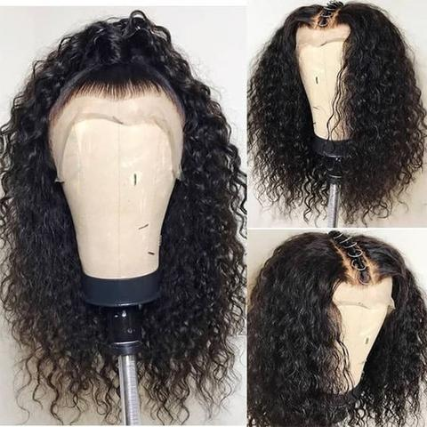 Transparent Curly 360 Lace Frontal Wig
