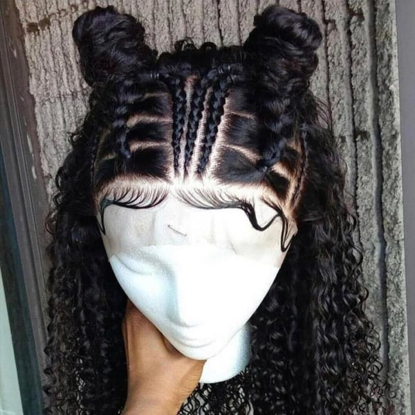 Transparent Transparent Curly 360 Lace Frontal Wig