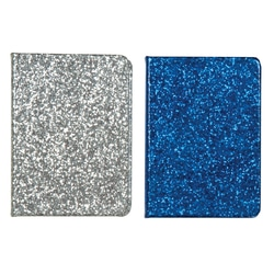 Case of [12] Personal Glitter Journal – 12 Count, Silver/Blue Glitter, 80 lined pages, Hardcover