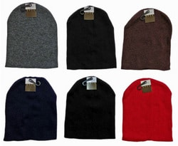 Case of [24] Beanie Hats – Assorted Colors
