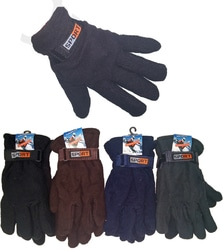 Case of [24] Men's Fleece Lined Gloves