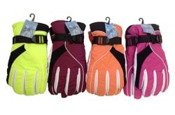 Case of [24] Women's Nylon Ski Gloves