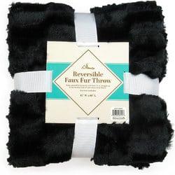 Case of [10] TrailWorthy Faux Fur Micro Mink Blanket – Black