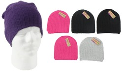 Case of [24] Assorted Women's Winter Beanie Hats