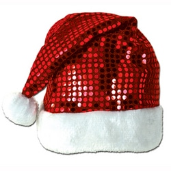 Case of [12] Sequin-Sheen Santa Hat