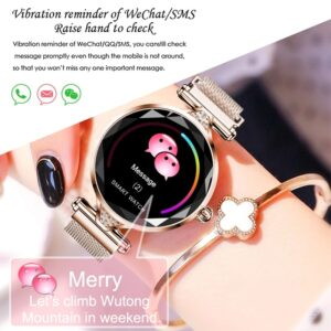 Women Bracelet IP67 Blood Pressure Heart Rate Monitor Smartband