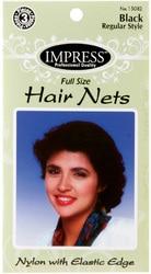 Case of [144] Impress Black Hair Nets – 3 Piece