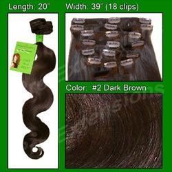 #2 Dark Brown – 20 inch Body Wave