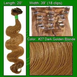 #27 Dark Golden Blond – 20 inch Body Wave