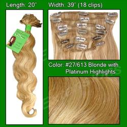 #27/613 Blonde w/ Platinum Highlights – 20 inch Body Wave