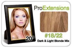 Pro Fusion 20″, #18/22 Dark Blonde w/Light Blonde Highlights