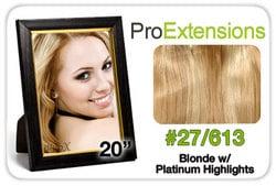 Pro Fusion 20″, #27/613 Blonde w/Platinum Highlights