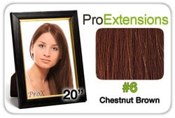 Pro Fusion 20″, #6 Chestnut Brown
