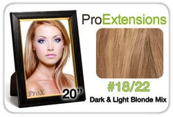 Pro Lace 20″, #18/22 Dark Blonde w/Light Blonde Highlights