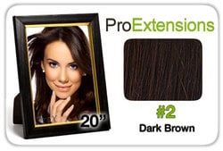 Pro Lace 20″, #2 Dark Brown