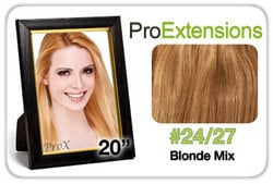 Pro Lace 20″, #24/27 Light Blonde w/Dark Blonde Highlights