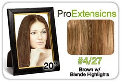 Pro Lace 20″, #4/27 Brown w/Blonde Highlights