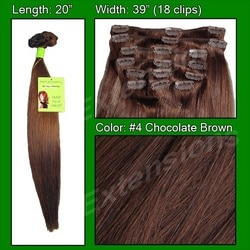 #4 Chocolate Brown – 20 inch Remi