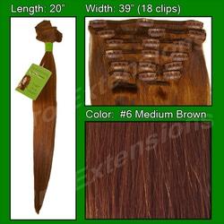 #6 Medium Brown – 20 inch Remi