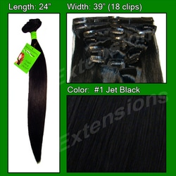 #1 Jet Black – 24 inch Remy
