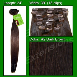 #2 Dark Brown – 24 inch Remy