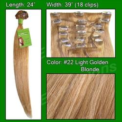 #22 Golden Blonde – 24 inch Remy