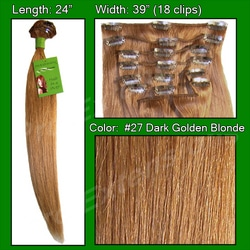 #27 Dark Golden Blonde – 24 inch Remy