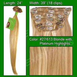 #27/613 Golden Blonde w/ Platinum Highlights – 24 inch Remy