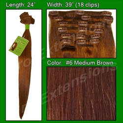 #6 Medium Brown – 24 inch Remy