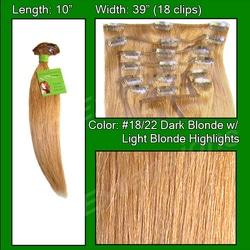 #18/22 Dark Blonde w/ Light Highlights – 10 inch