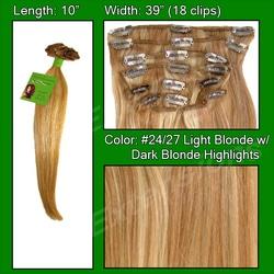 #24/27 Light Blonde w/ Dark Blonde Highlights – 10 inch
