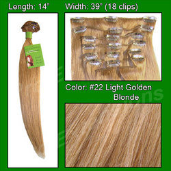 #22 Medium Golden Blonde – 14 inch