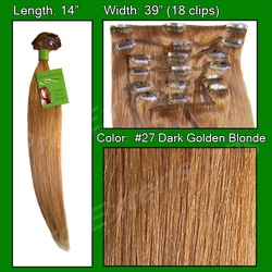 #27 Dark Golden Blonde – 14 inch