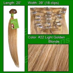 #22 Medium Golden Blonde – 20 inch