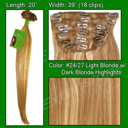 #24/27 Light Blonde w/ Golden Blonde – 20 inch