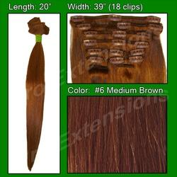 #6 Medium Brown – 20 inch