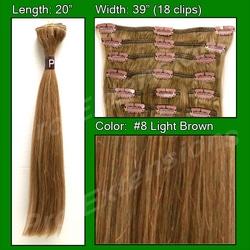 #8 Light Brown – 20 inch