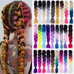 Halloween Gradient Dirty Braids