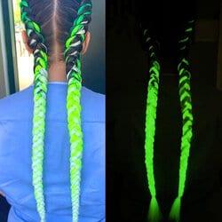 Colored Luminous Dirty Braids
