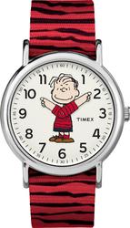 Timex Unisex TW2R41200 Weekender x Peanuts: Linus Nylon Slip-Thru Strap Watch