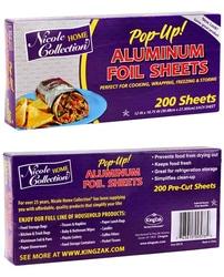 Case of [12] Pre-Cut Aluminum Foil Sheets 200-Packs – Nicole Home Collection